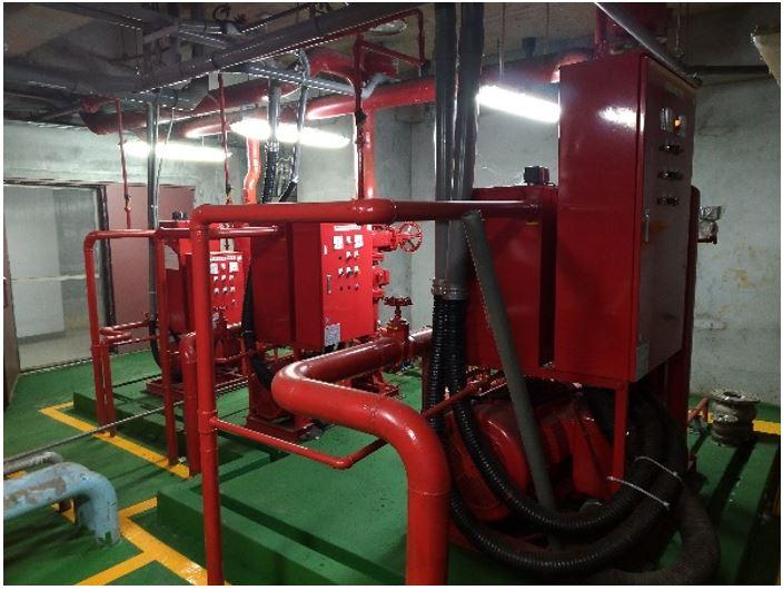 更新後的消防泵浦組
