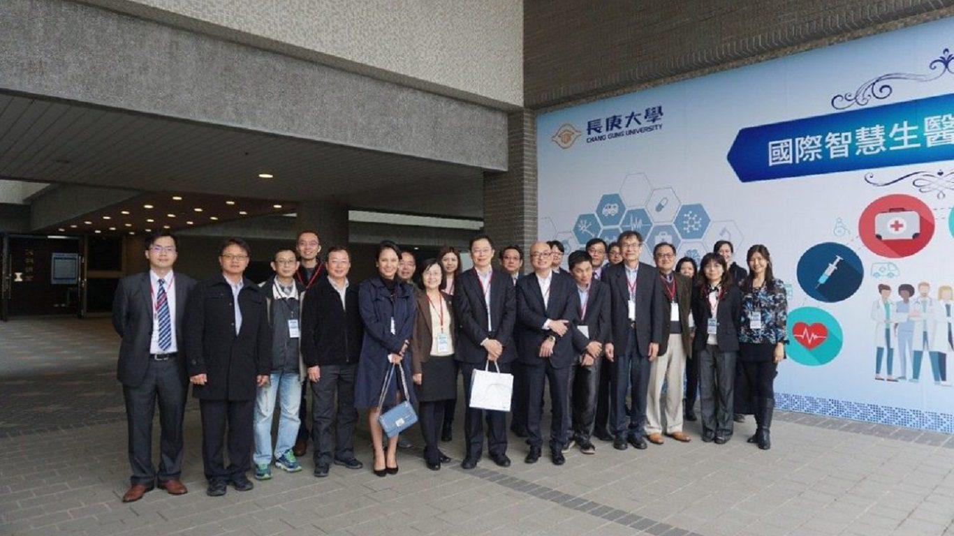 參與國際智慧生醫技術研討會的各界嘉賓合影。 楊連基/攝影